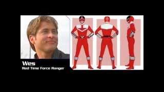 Power Rangers History Red Rangers (1993-2011) (Mighty Morphin-Samurai).