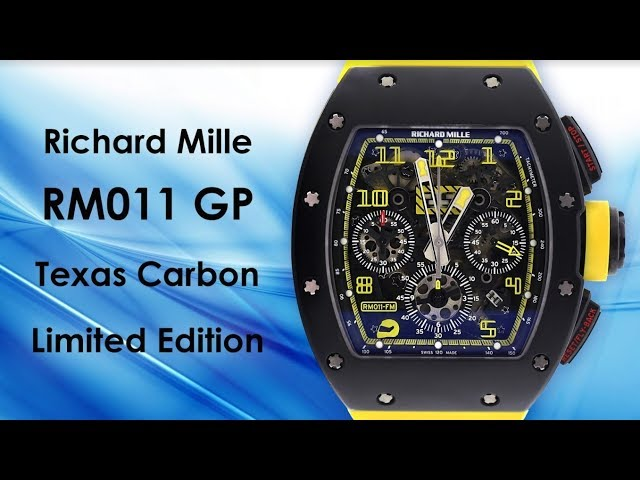 Richard Mille RM011 GP Texas Carbon Limited Edition Watch - video by Big Watch Buyers