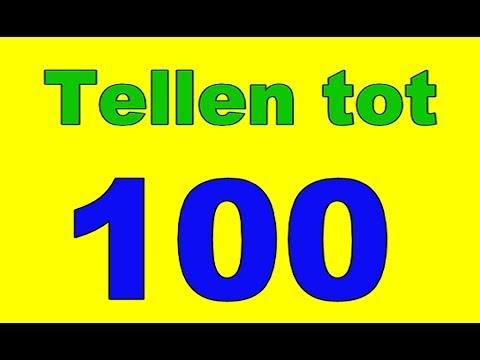 Tellen Tot 100 Honderd Peuters Kleuters Cijfers Leren