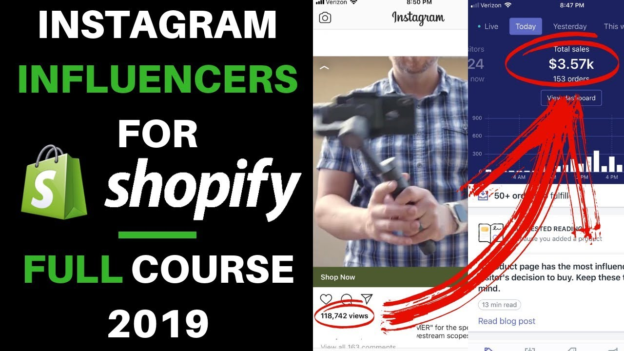 Free Course Instagram Influencers A Z In 2019 Shopify Dropshipping