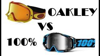 Cравнение очков Oakley (o-frame, o-frame 2.0, proven, crowbar) и 100% (strata, accuri, racecraft)
