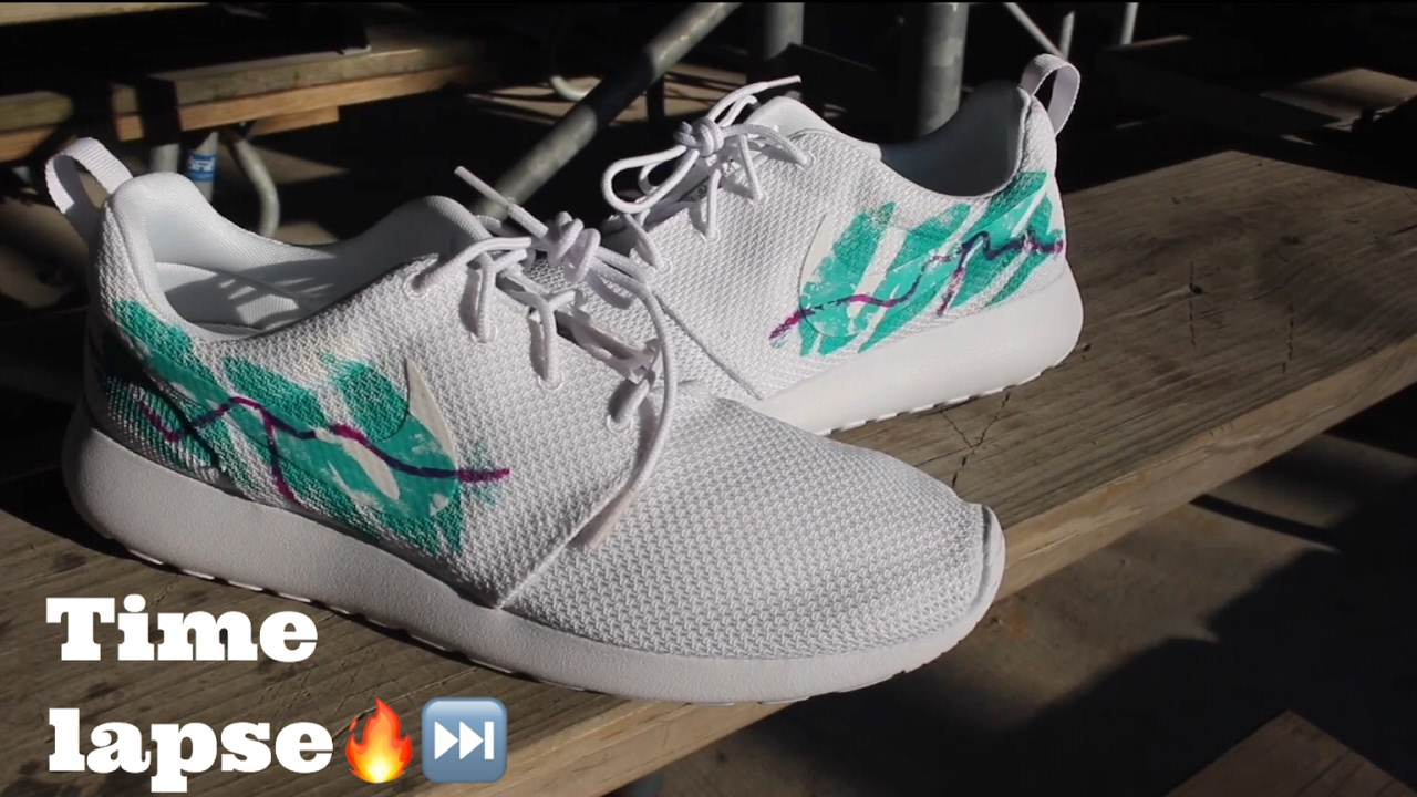 7f2b5dbd30c41 Custom 90s Soda Cup Roshe Run Time Lapse