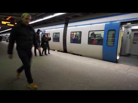 Sweden, Stockholm, Central station, DEKRA elevators and train ride to Stockholm Södra