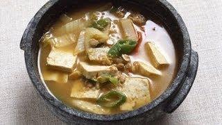 Korean Soybean & Veggie Soup Doenjang-jjigae 된장찌개 Recipe