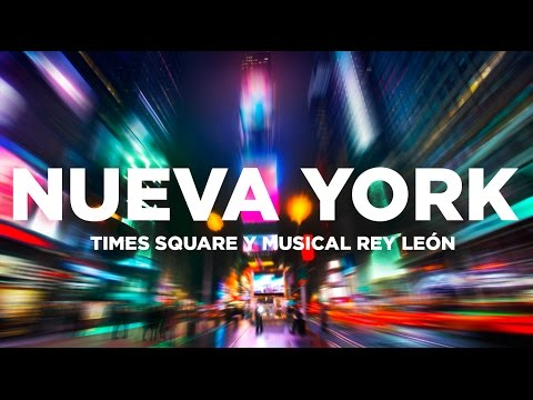 Times Square y musical Broadway El Rey León