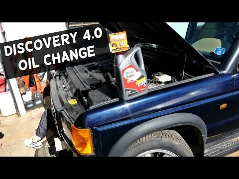 HOW TO CHANGE OIL ON LAND ROVER DISCOVERY 4.0