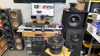 Ultimate open-air subwoofer Excursion LIVE! Crazy Low Frequency flex! SMOKE!