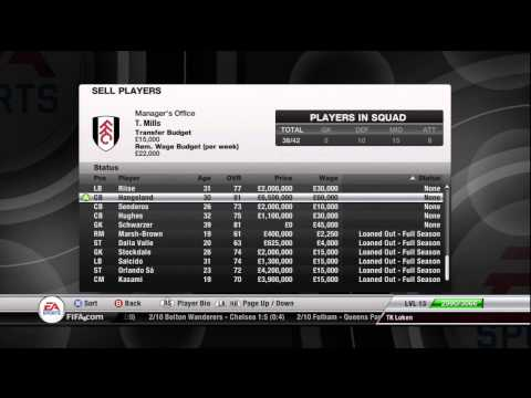 FIFA 12 - Fulham FC - Manager Mode Commentary - Episode 9