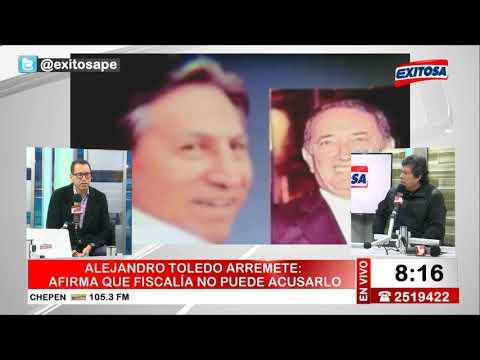 Alejandro Toledo arremete   Afirma que fiscalía no puede acusarlo - Heriberto Benítez responde