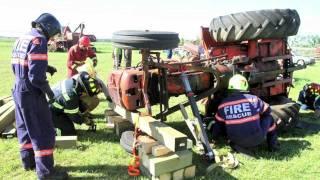 Heavy equipment rescue training in Blackfalds