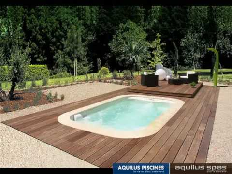 Mini water son plancher escamotable by aquilus piscine for Abri pour spa ou petite piscine