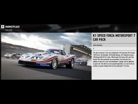 Forza 7 - All New Car Pack. K1 Speed. Drift Tunes AWD/RWD
