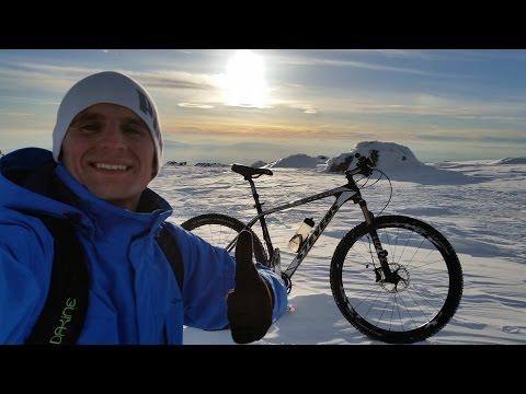 Изкачване на Черни връх с колело 21 Февруари 2015г + спускане от 2290м.н.в.