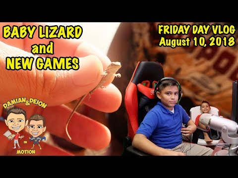 CAUGHT BABY LIZARD BEFORE SCHOOL  |  FRIDAY VLOG | D&D SQUAD