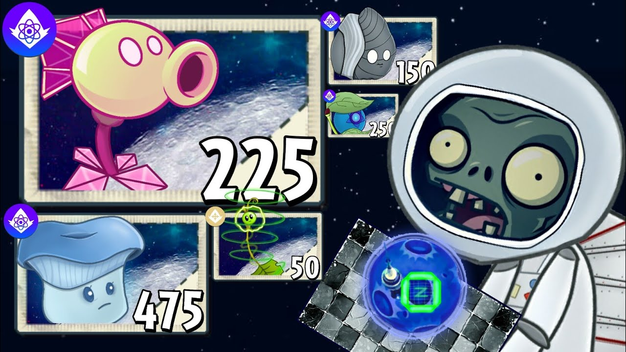 (remake) Ungravity Moon - Fanmade World | Plants Vs. Zombies 2