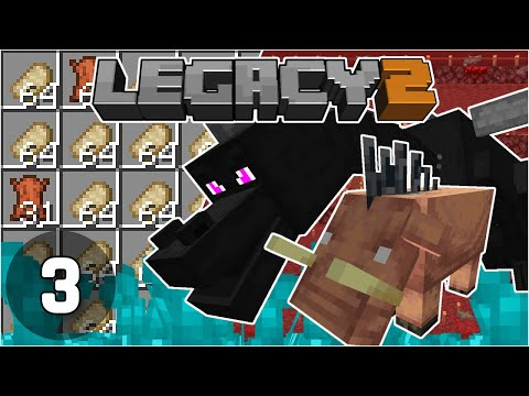 Hogin Farm, Dragon Fight and Wings - Legacy SMP 2: #3 | Minecraft 1.16 Survival Multiplayer