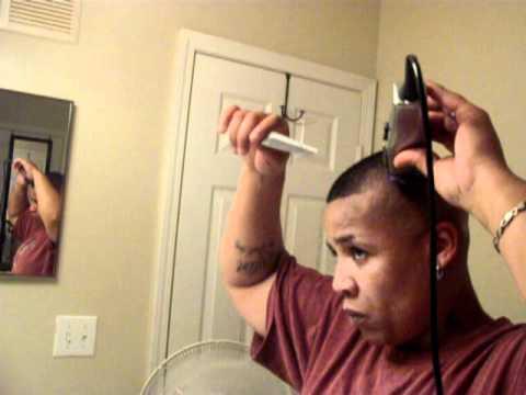 atlanta female barber cuts own bald fade part 1 of 2 youtube