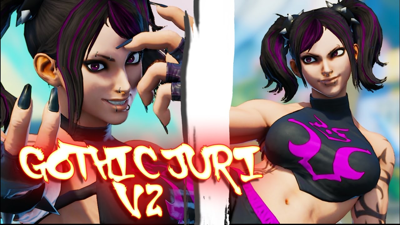 Street Fighter V Mod Makes Juri a Goth with Tattoos and