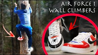 Make Air Force 1 Spider-Man Wall Climbers! - Retractable Custom Climbing Shoes!!