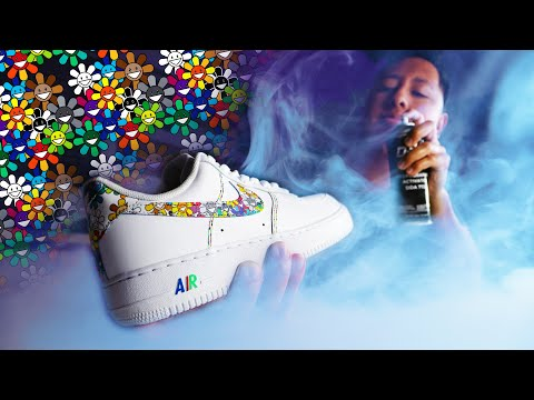 How To HYDRO DIP ANY DESIGN On A Sneaker | Custom Nike AIR Force 1s