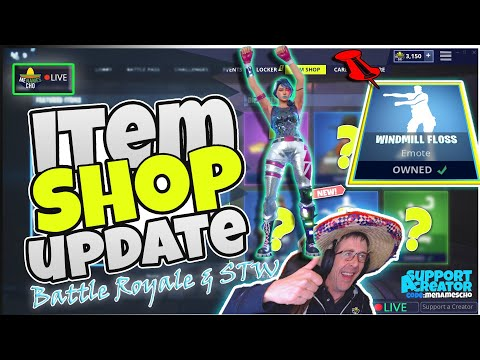 🆕menamescho's-live-🔵-windmill-floss-💃-item-shop-update-⚡-fortnite-battle-royale-9th-august-2019