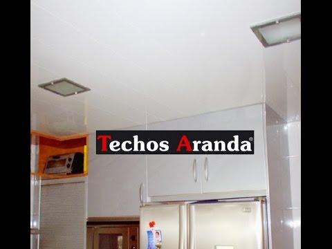 Techo desmontable lamas aluminio madrid for Techo desmontable bano