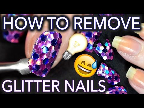 Remove glitter nails EASIER THAN EVER BEFORE