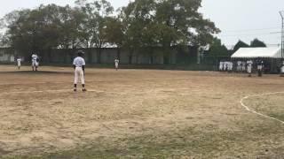 小野南中学校 野球部 2017.4.8 稲美中学校 投球2