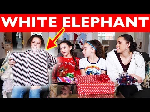 White Elephant Christmas Gift Exchange | Sister Edition! (Haschak Sisters)