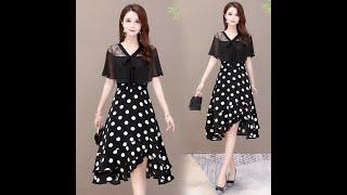 Летние новые женские модные платья с коротким рукавом повседневные для вечеринок простые свежие