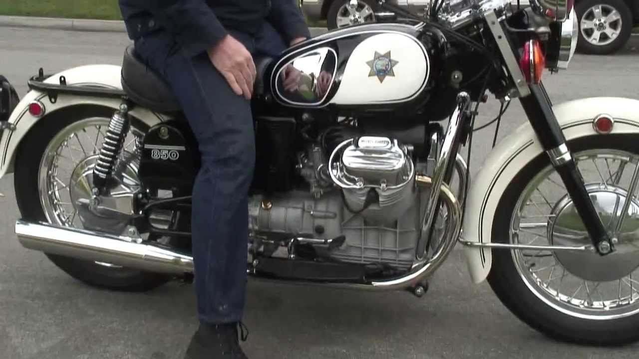 Restored 1972 Chp Moto Guzzi Eldorado Police With Siren
