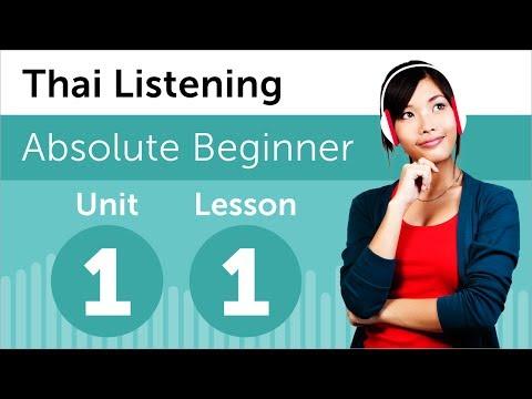 Luyện nghe tiếng Thái trình độ A1- Bài 1: Tại nhà sách
