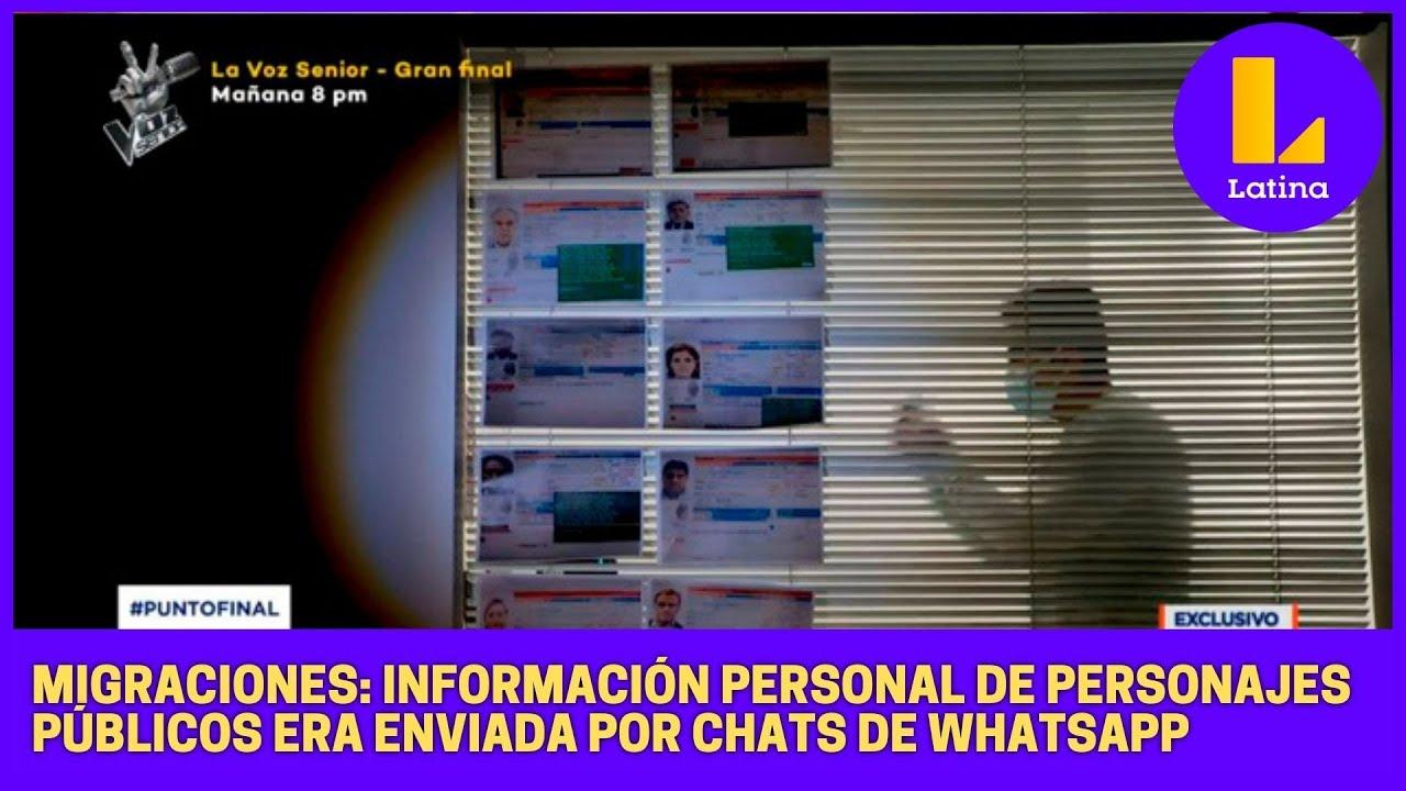 Download Migraciones: información personal de personajes públicos era enviada por chats de Whatsapp