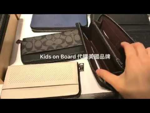 Coach Men Zip Long Wallet Youtube