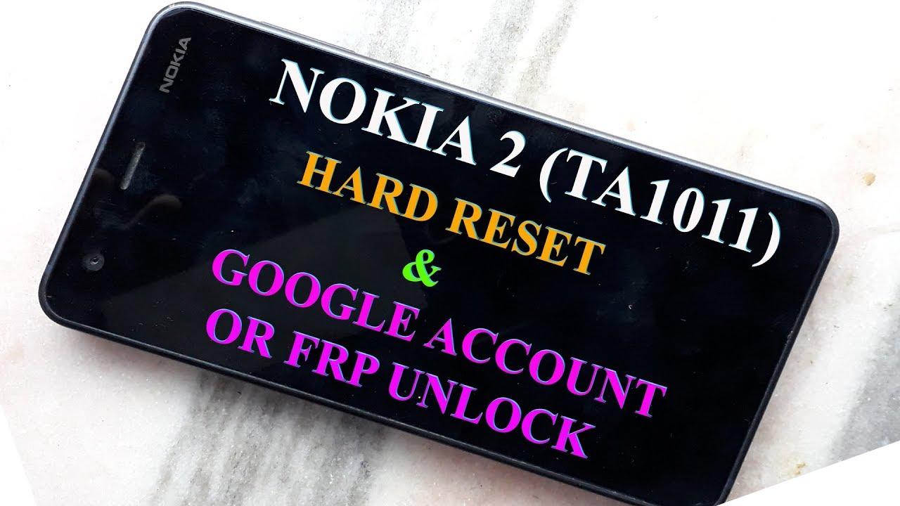 Nokia 2 (TA-1011) hard reset and pattern unlock complete