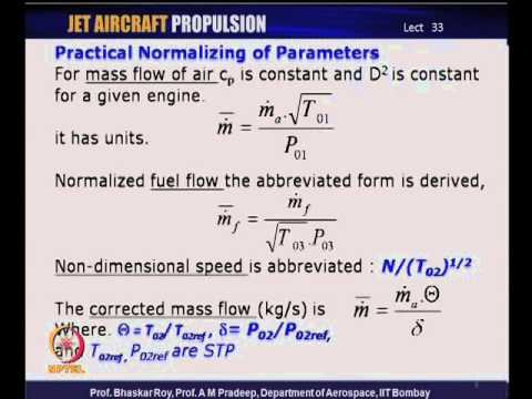 Mod-13 Lec-33 Aircraft Engine component matching: Dimensional analysis