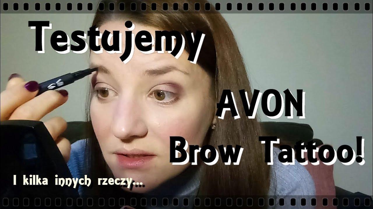 Testujemy Avon Brow Tattoo Super Definition Liner I Pomadkę Avon W Uk
