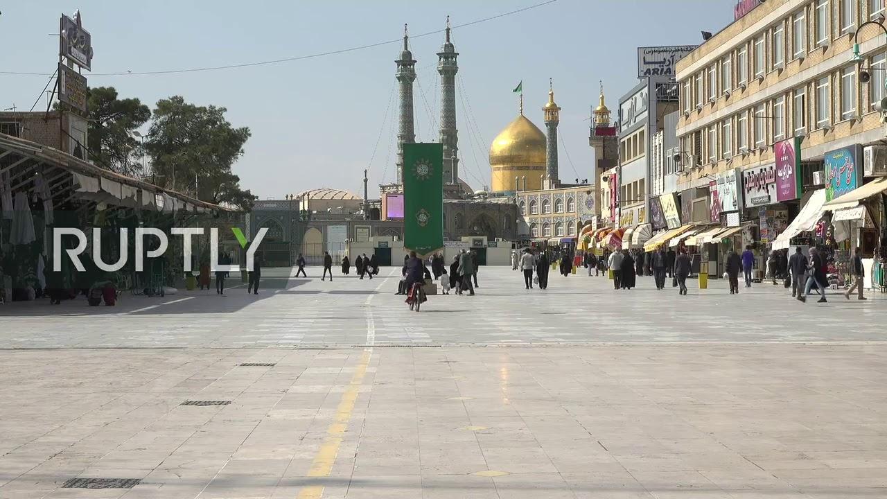 Live from Iranian city of Qom amid coronavirus cases - RUPTLY