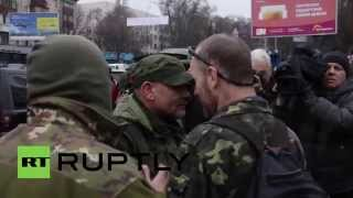 Ukraine: Scuffles break out between Aidar Battalion and security forces