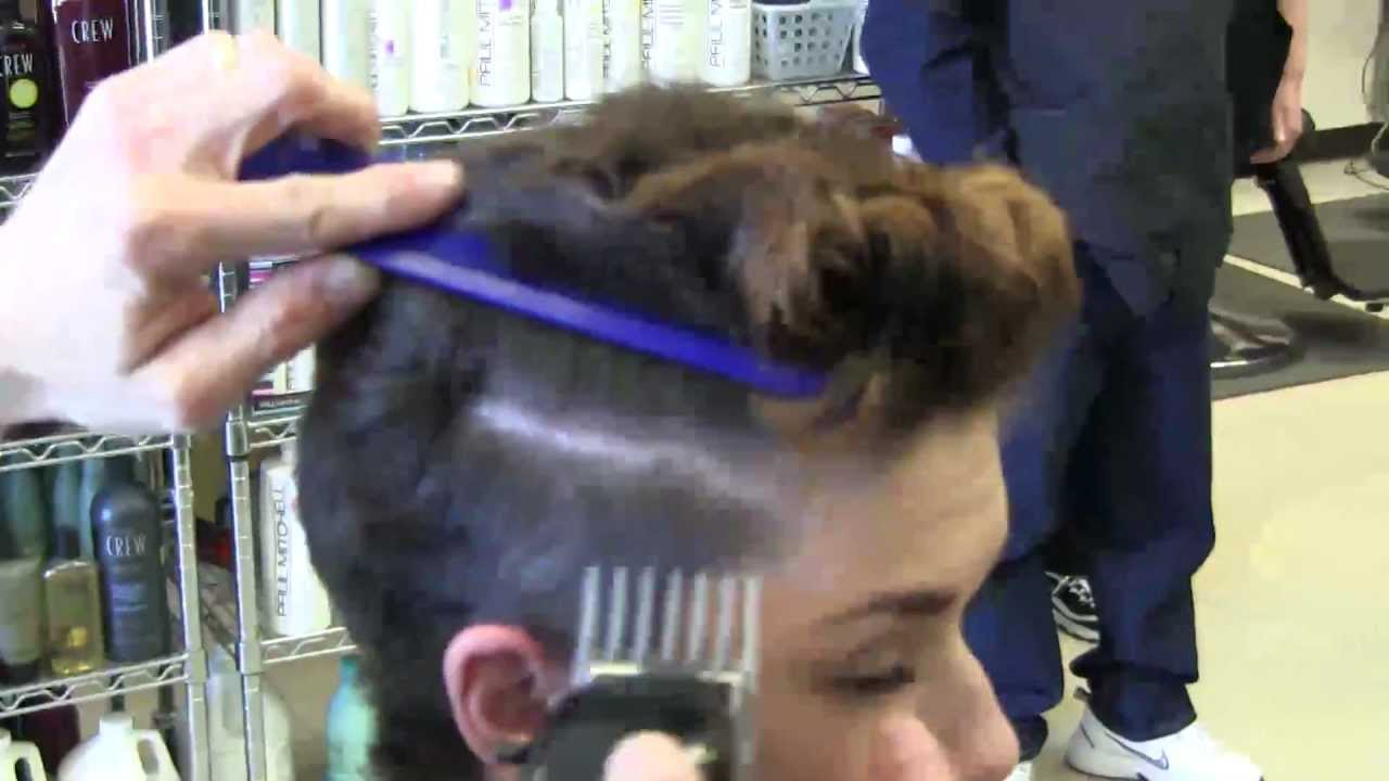 Brittanys Cuts Her Hair Short Pixie Style HD Clipper