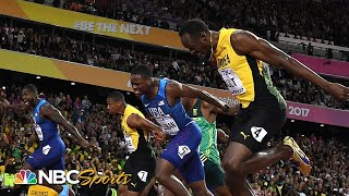 Bolt, Gatlin, and Coleman battle to the 100m wire at 2017 world championships | NBC Sports