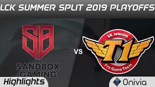 SB vs SKT Highlights Game 3 LCK Summer 2019 Playoffs SANDBOX Gaming vs SK Telecom T1 Highlights by O