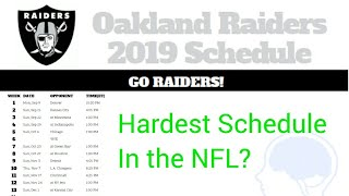 Oakland Raiders get toughest 2019 Schedule