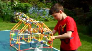 K'nex Trebuchet First Launch