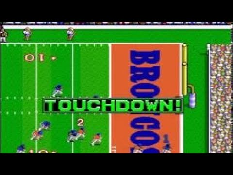 Tecmo Super Bowl (SNES) Chargers vs Broncos highest score ever 364 0