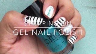 Stamping on Gel Nail Polish - Nail stamping tutorial - Bundlemonster stamping plates