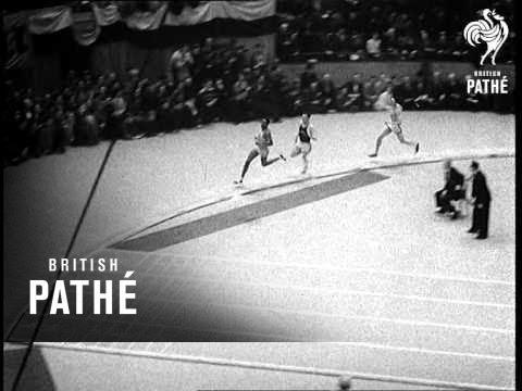 Glenn Cunningham Beaten Aka Indoor Athletics Meeting In The U.S. (1939)