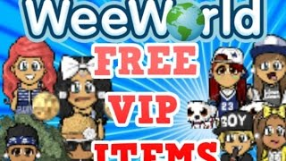 HOW TO GET FREE VIP ITEMS ON WEEWORLD 2015