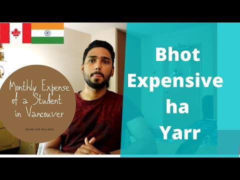 What Is The Cost Of Living In| Vancouver Canada**Student Expenditure EXPLAINED