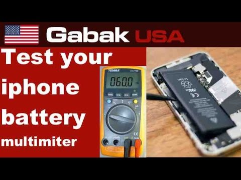 How to check iPhone battery with a multimeter